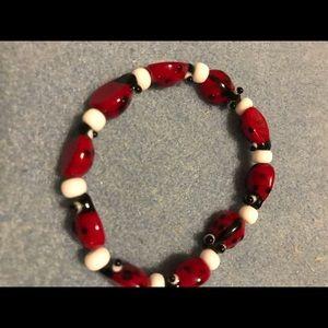 Adorable ladybug necklace